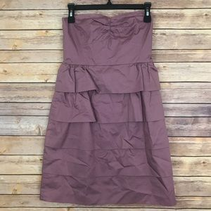 J. Crew Strapless Ruffle Cocktail Dress Size 4